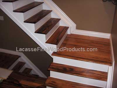 Tigerwood Stair Treads. Tigerwood Floors On Landing