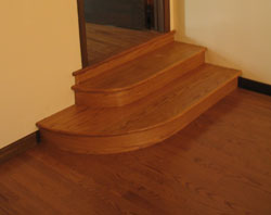 Awesome Round Oak Hardwood Stair Treads ...