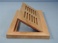 Hardwood floor vents custom sizes and wood species flushmount wood floor vents ppazfo