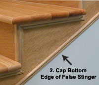 If Youu0027ve Added A False Stringer On The Outside Edge This Is Also A Great  Trim To Finish Off The Bottom Edge.
