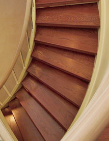 Wood Spiral Oak Stair Treads In Toronto