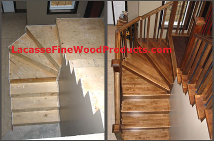 stairs with hardwood