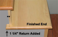High Quality Returned Finished End Stair Tread