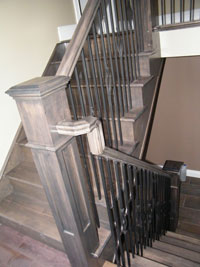 box Newel post Arts and Crafts Style (Shaker)