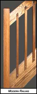 square oak handrail