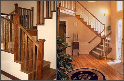 Wooden Stairs Images On Lacasse Custom Wood And Metal Spindles Railings