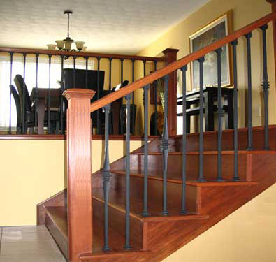 Wrought iron railings interior for Interior iron railing designs