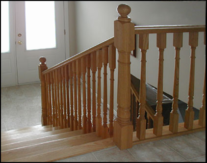 Lacasse:Colonial Wood Spindles for Interior Railings.